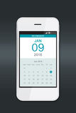 Smartphone with calendar. Stock Images