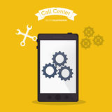 Smartphone call center online tools. Vector illustration eps 10 Royalty Free Stock Images