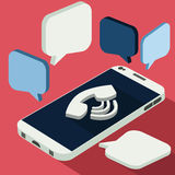 Smartphone call and sends message Stock Photography