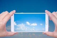 smartphone camera stock photo