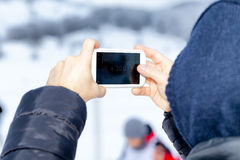 Smartphone Camera Zoom Royalty Free Stock Images