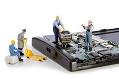 Smartphone-camerareparatie miniatuur Royalty-vrije Stock Foto