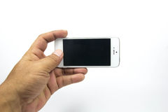 Smartphone. Cell phones are a communication tool on a white background Royalty Free Stock Photos