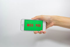 Smartphone. Cell phones are a communication tool on a white background Royalty Free Stock Images