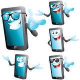Smartphone character set isolated on white Royalty Free Stock Photos