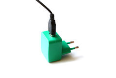 Smartphone charger usb Stock Photo