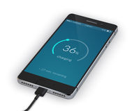 Smartphone Charging Isolated Royalty Free Stock Images