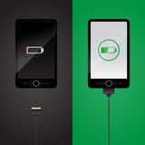 Smartphone charging. Vector object rgb mode Stock Image