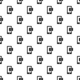 Smartphone chart percent pattern seamless vector illustration
