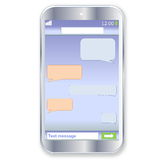 Smartphone chat Stock Image