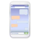 Smartphone chat Stock Photo