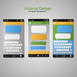 Smartphone chatting SMS Messages speech Bubbles. Smartphone key. Vector illustration of  Smartphone chatting SMS Messages speech Bubbles. Smartphone keyboard Royalty Free Stock Photos