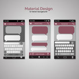 Smartphone chatting SMS Messages speech Bubbles. Smartphone key Royalty Free Stock Images