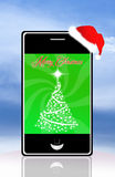 Smartphone at Christmas Stock Image