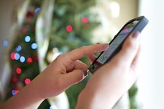 Smartphone For Christmas Royalty Free Stock Photo