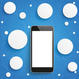 Smartphone Circle Networks Blue Sky Stock Images