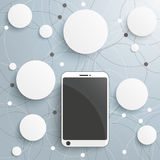 Smartphone Circles Networks Royalty Free Stock Images