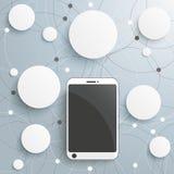 Smartphone-Cirkelsnetwerken stock illustratie