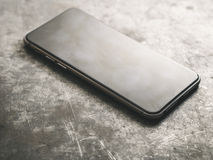 Smartphone.Classic Black Smartphone. Stock Photo