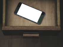 Smartphone.Classic Black Smartphone. Royalty Free Stock Images