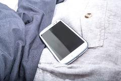 Smartphone on Cloth Royalty Free Stock Photo