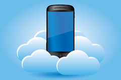 Smartphone on cloud Stock Photography