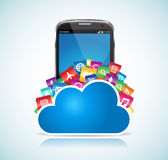 SmartPhone Cloud Stock Images