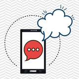 smartphone cloud chat speak Royalty Free Stock Photo