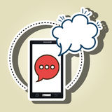 smartphone cloud chat speak Royalty Free Stock Images