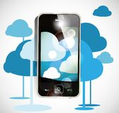 Smartphone cloud computing Stock Image