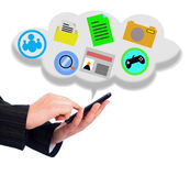 Smartphone - cloud concept Royalty Free Stock Photos