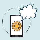 smartphone cloud gear speak Royalty Free Stock Images