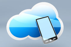 Smartphone Cloud Royalty Free Stock Image