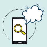 Smartphone cloud search speack Stock Photography