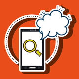 Smartphone cloud search speack. Illustration eps 10 Stock Photography