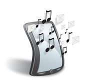 Smartphone. With cloud sms and music Stock Illustration
