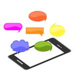 Smartphone and cloud  thoughts Royalty Free Stock Image