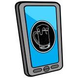 Smartphone Club Locator Stock Photos