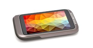 Smartphone with color screen background Royalty Free Stock Photos