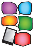 Smartphone and Colorful Speech Bubble Vector illustration Royalty Free Stock Photography