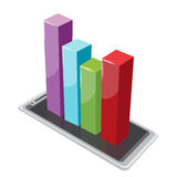 Smartphone Column Graph Color Stock Images