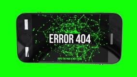 Smartphone com erro não encontrado 404 da página ilustração royalty free