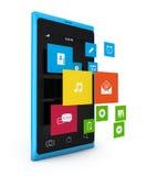 Smartphone com estilo do metro 3d Imagens de Stock