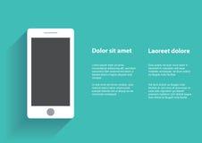 Smartphone com tela vazia Foto de Stock