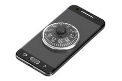 Smartphone with combination lock Stock Images