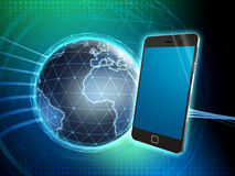 Smartphone communication network Royalty Free Stock Images