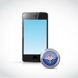 Smartphone compass illustration design Royalty Free Stock Image