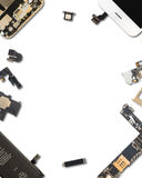 Smartphone Components Isolate On White Royalty Free Stock Image