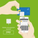 Smartphone con el proceso de pagos móviles de Fotos de archivo libres de regalías