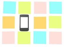 Smartphone con gli autoadesivi Fotografie Stock